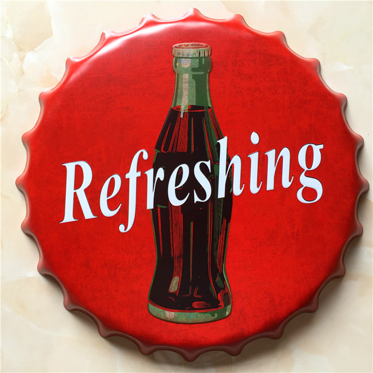 Vintage Refreshing Soda Cold Drink Sign - Way Up Gifts