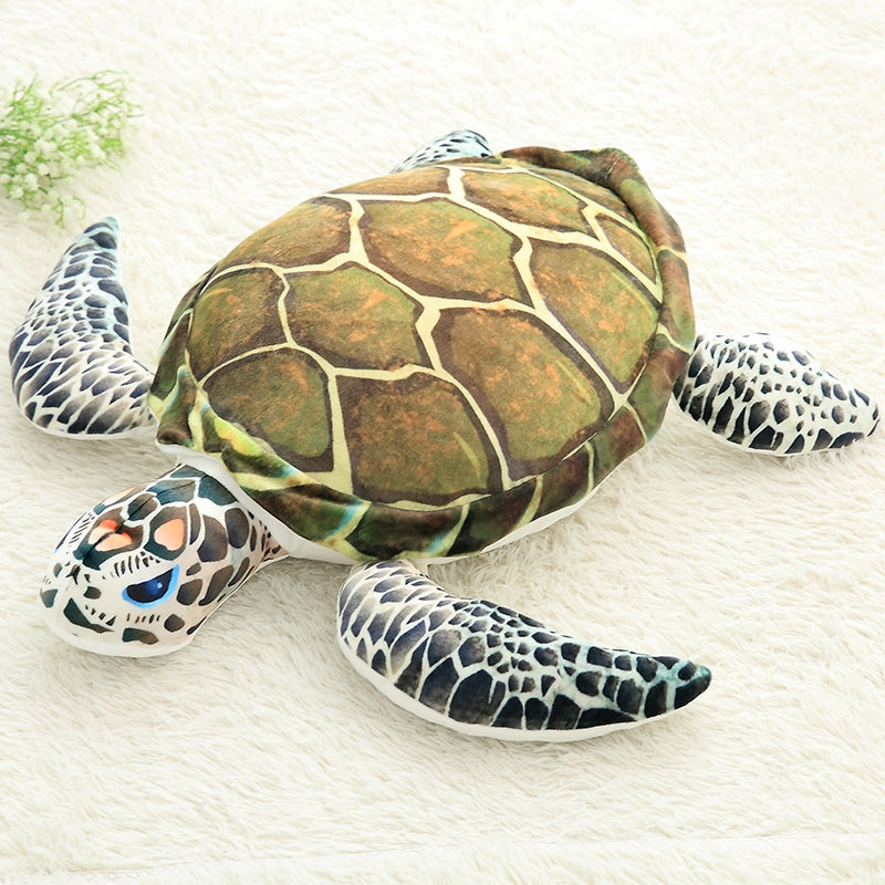 Realistic Green Sea Turtle Stuffed Animal Plush - Way Up Gifts