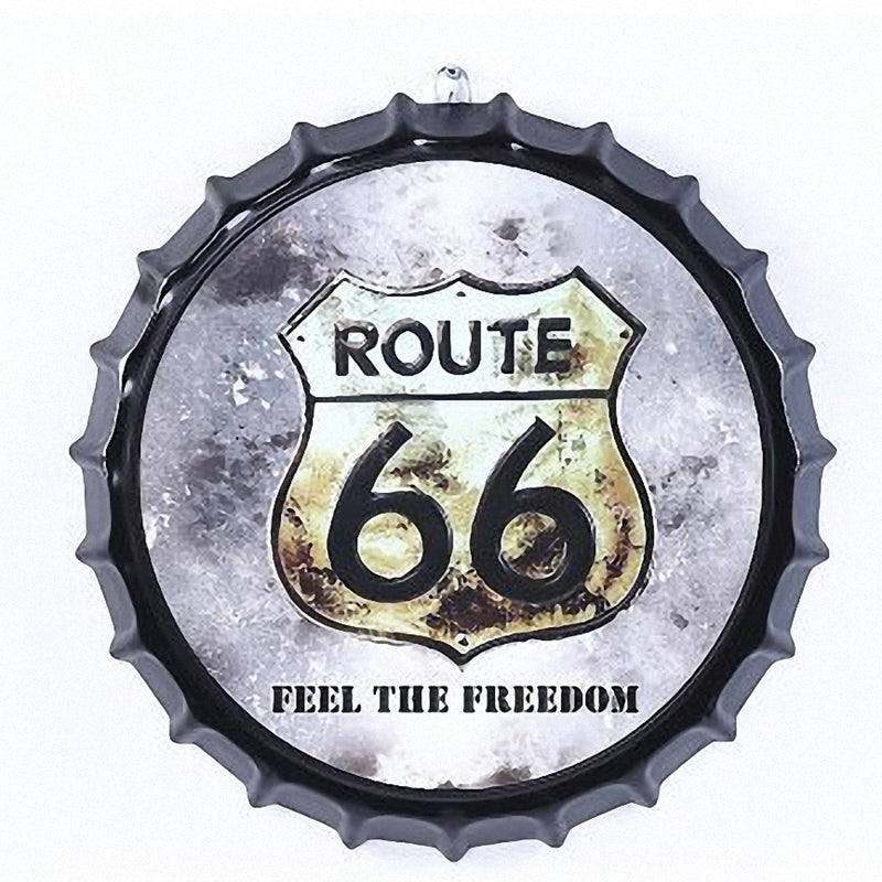 Vintage Feel the Freedom Route 66 Sign - Way Up Gifts