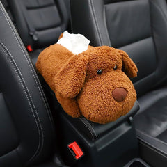 Car Tissue Holder Plush Animal Auto Interior Accessories