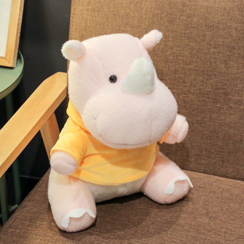 High Quality Soft Rhinoceros Rhino Stuffed Animal Plush Toy Doll - Way Up Gifts
