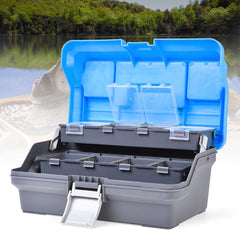 Portable Waterproof 3 Layer Fishing Tackle Box Storage Case
