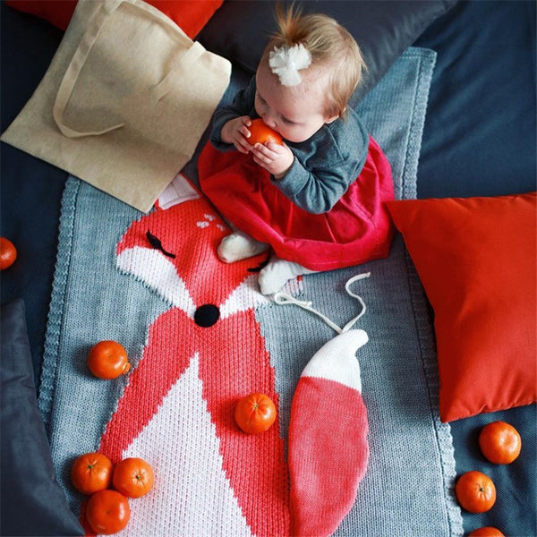Soft Warm Fox Baby Blanket - Way Up Gifts