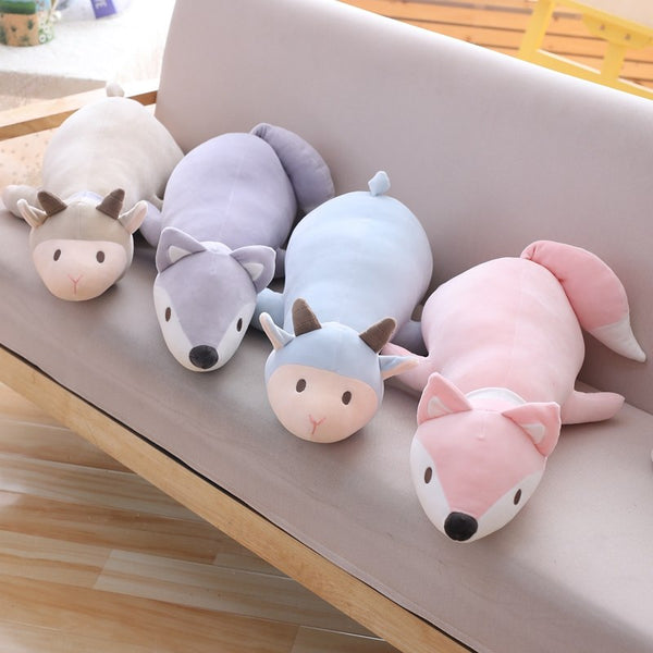 Soft Giant Stuffed Animal Fox Sheep Plush Toy Pillow Cushion