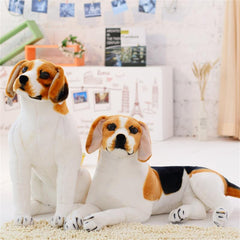 Lifelike Big Realistic Beagle Dog Stuffed Animal Plush