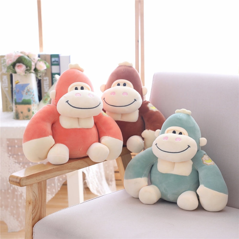 Monkey Gorilla Stuffed Animal Smiling Plush Toy - Way Up Gifts