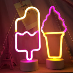 Ice Cream LED Neon Light Table Lamp Night Light