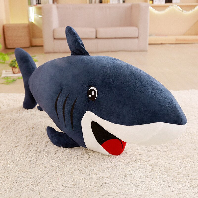 Large Stuffed Animal Cartoon Shark Plush - Way Up Gifts