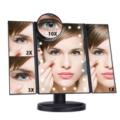 Light Up Makeup Mirror | Rotating Adjustable Tabletop Cosmetic Mirror (LED, Up to 10x Magnifying)