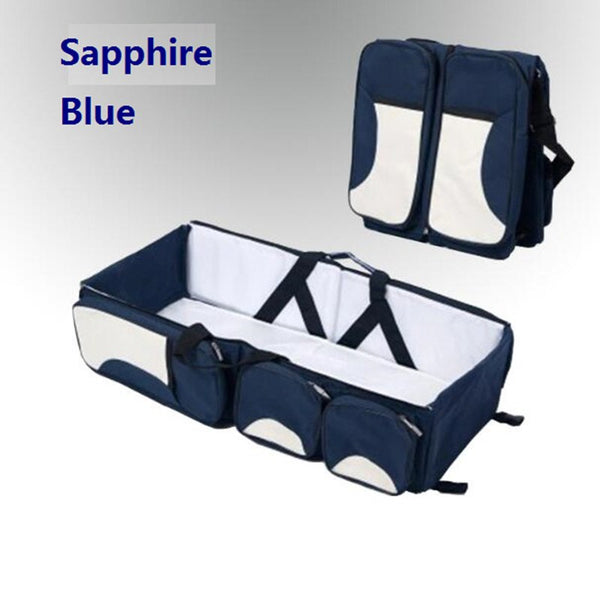 Folding Portable Baby Travel Crib Bed Carry Cot & Shoulder Accessories Bag  Babies > Accessories - Way Up Gifts