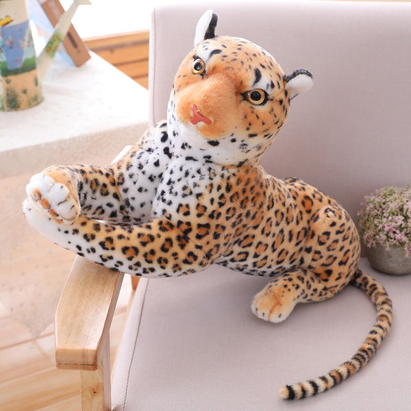 Giant Stuffed Animal Realistic Panther Leopard Plush - Way Up Gifts