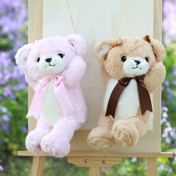 Stuffed Plush Teddy Bear Backpack Shoulder Bag Purse For Girls - Way Up Gifts