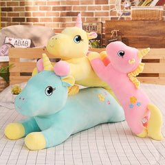 Giant Stuffed Animal Unicorn Plush Toy w/ Flower Embroidery