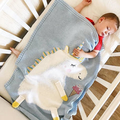His/Her Unicorn Baby Blanket