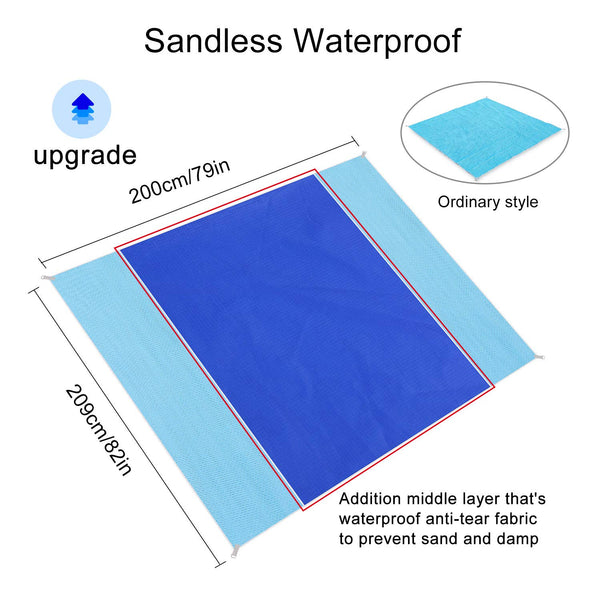Sand Free Beach Mat - Way Up Gifts