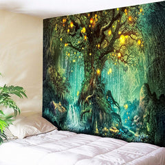 Wishing Trees Wall Hanging Psychedelic Tapestry Art Decor Blanket (High-Definition Fabric)