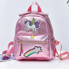 Embroidered Unicorn Glitter Backpack