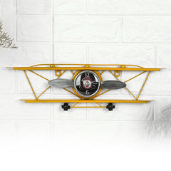 Aviation Airplane Wall Clock Retro Style