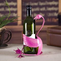 Flamingo Metal Wine Rack Bottle Holder Display