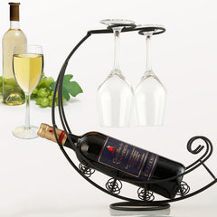 Wine Rack Bottle & Glass Holder Creative Display Stand