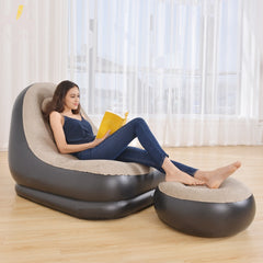 Inflatable Sofa Chair Lounger with Ottoman Foot Stool