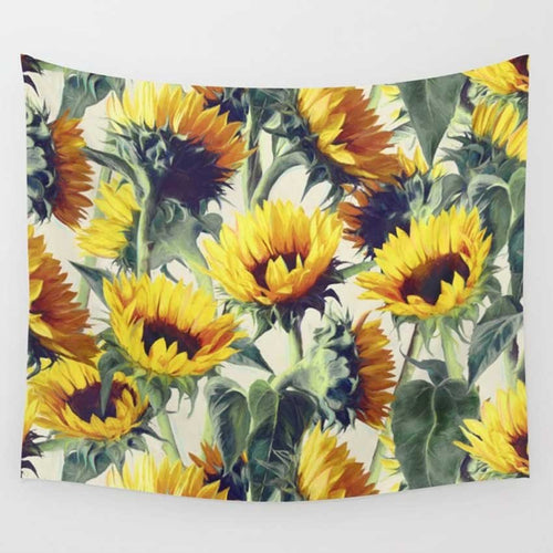 Wall Hanging Sunflower Tapestry Art Decor Blanket (High-Definition Fabric)