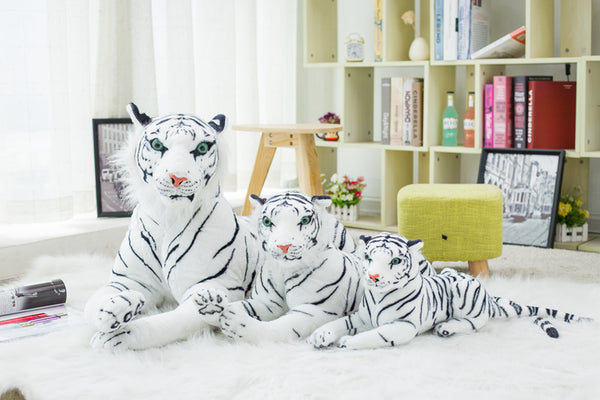Big Stuffed Animal White Tiger Plush Toy - Way Up Gifts