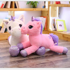 Giant Stuffed Animal Unicorn Plush Toy w/ Hearts