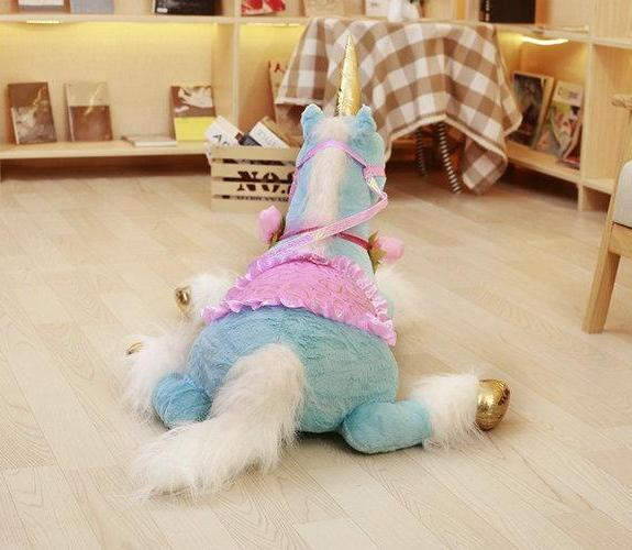 Giant Stuffed Animal Unicorn Pony Plush w/ Flowers - Way Up Gifts