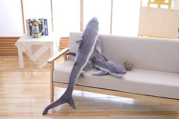 Giant Realistic Stuffed Shark Plush Toy Animal  Giant Plush Toy - Way Up Gifts
