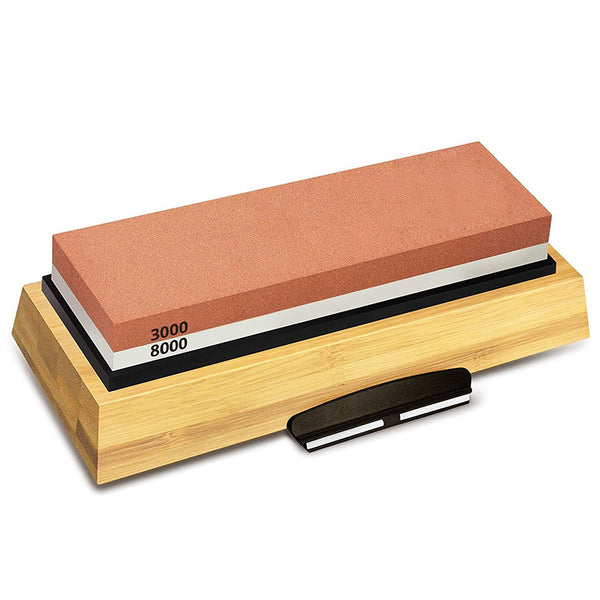 Premium Kitchen Knife Sharpener | Sharpening Stone 3000/8000 Double-Sided Whetstone  Home > Kitchen > Knife Sharpener - Way Up Gifts