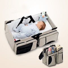 Folding Portable Baby Travel Crib Bed Carry Cot & Shoulder Accessories Bag