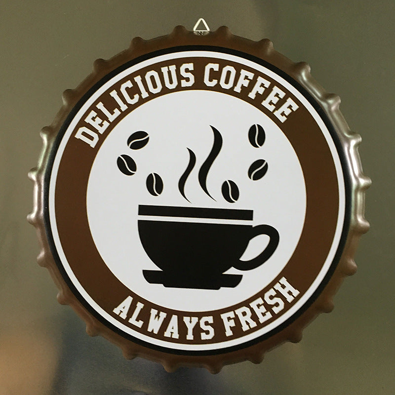 Vintage Always Fresh Delicious Coffee Sign - Way Up Gifts
