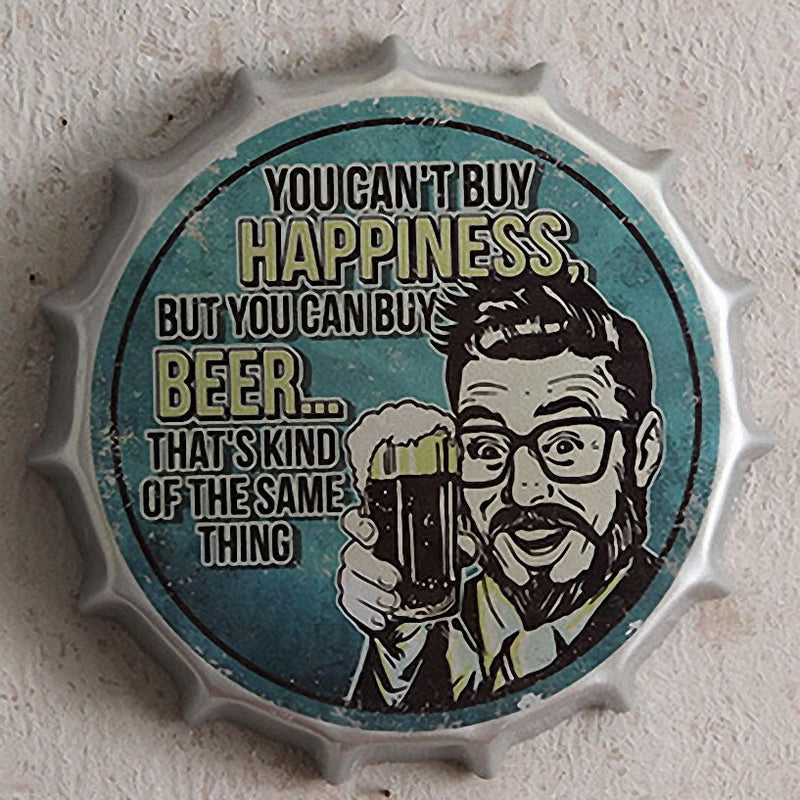 Vintage Can't Buy Happiness Can Buy Beer Sign - Way Up Gifts