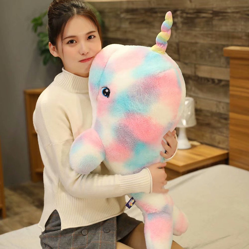 Colorful Narwhal Stuffed Animal Plush - Way Up Gifts