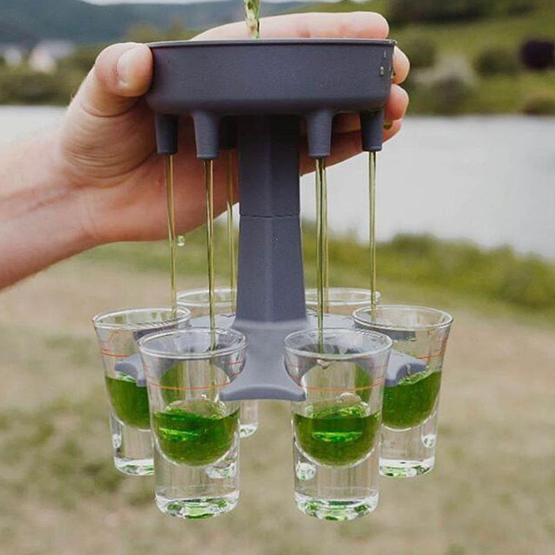 6 Alcohol Shot Dispenser Liquor Holder Party Game Gift Drinking Tool Accessory - Way Up Gifts