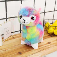 Big Stuffed Animal Rainbow Alpaca Sheep Plush