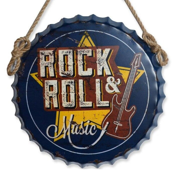 Large 3D Vintage Guitar Rock & Roll Music Sign - Way Up Gifts