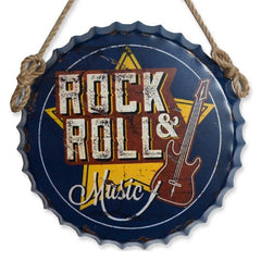 Large 3D Vintage Guitar Rock & Roll Music Sign
