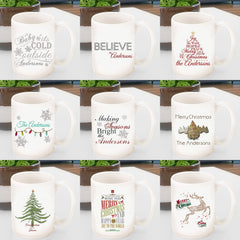 Personalized Ceramic Family Christmas Mug
