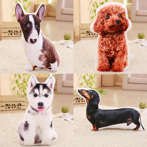 Realistic 3D Stuffed Dog Plush Pillow Cushion  Giant Plush Toy - Way Up Gifts