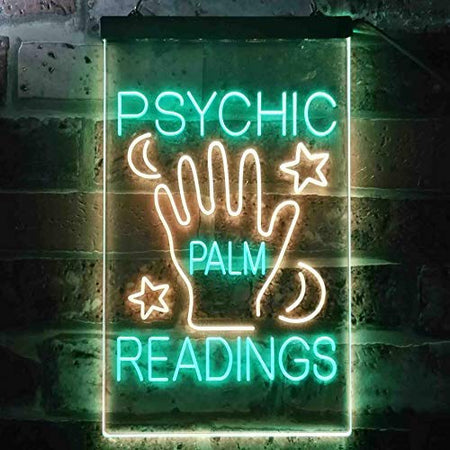 Fortune Teller Psychic Palm Readings LED Neon Light Sign - Way Up Gifts