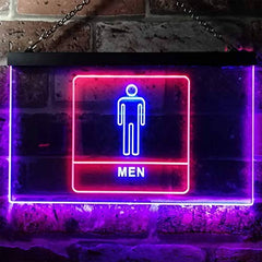 Men Bathroom Restroom LED Neon Light Sign