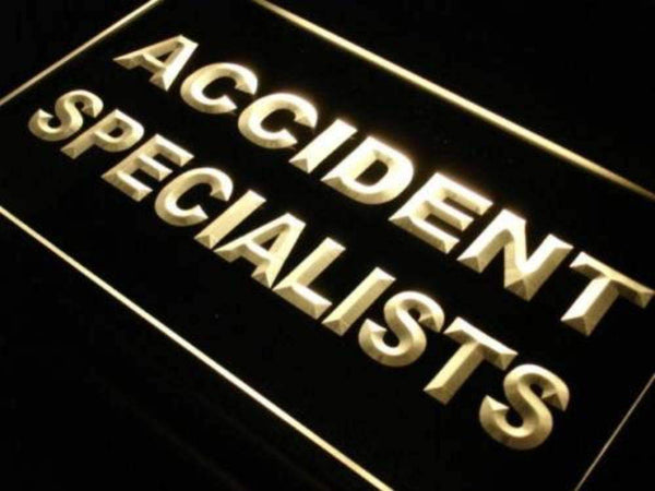 Accident Specialists Neon Sign (LED)-Way Up Gifts
