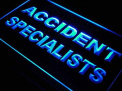 Accident Specialists LED Neon Light Sign