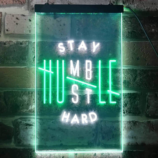 Motivational Quote Stay Humble Hustle Hard LED Neon Light Sign - Way Up Gifts