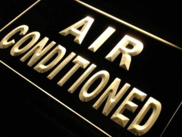 Air Conditioned Building Neon Sign (LED)-Way Up Gifts