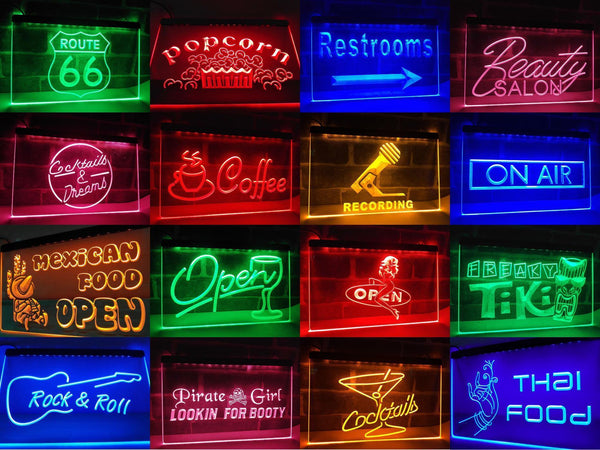 Air Conditioned Building LED Neon Light Sign - Way Up Gifts