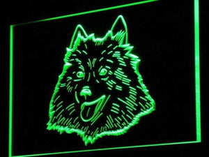 American Eskimo Dog Neon Sign (LED)-Way Up Gifts