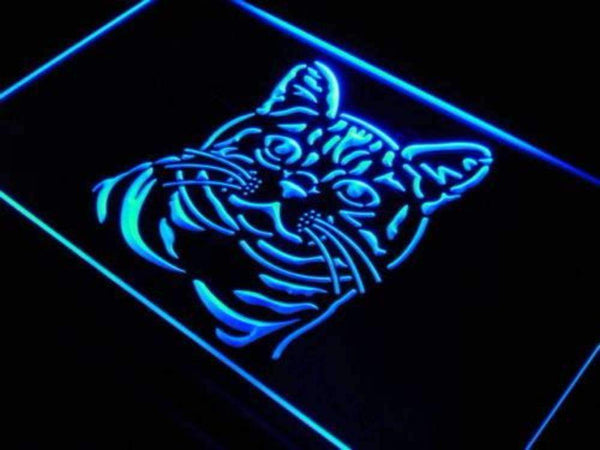 American Shorthair Cat Neon Sign (LED)-Way Up Gifts